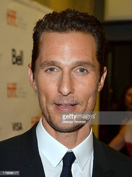 Actor Matthew McConaughey arrives at the 'Dallas Buyers Club' Premiere during the 2013 Toronto International Film Festival held at Princess of Wales...