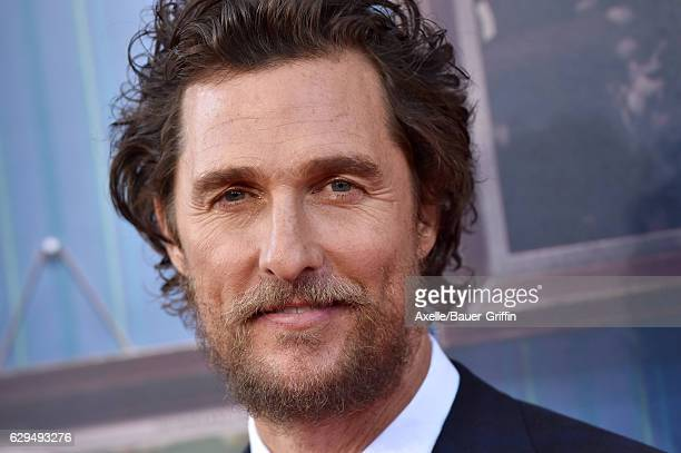 Actor Matthew McConaughey arrives at the Los Angeles Premiere of 'Sing' at the Microsoft Theater on December 3 2016 in Los Angeles California