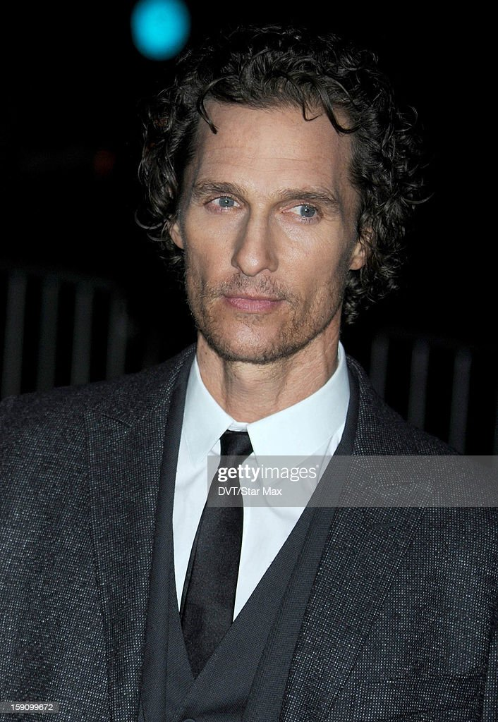 Actor <a gi-track='captionPersonalityLinkClicked' href=/galleries/search?phrase=Matthew+McConaughey&family=editorial&specificpeople=201663 ng-click='$event.stopPropagation()'>Matthew McConaughey</a> as seen on January 7, 2013 in New York City.