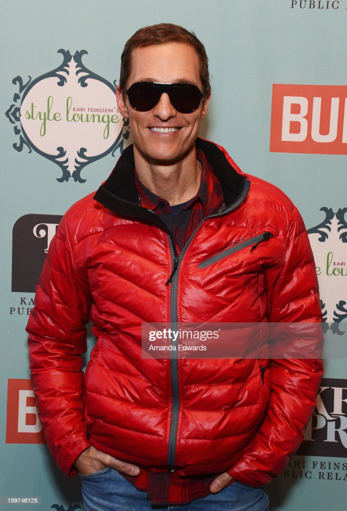 Actor Matthew McConaughey attends Day 2 of the Kari Feinstein Style Lounge on January 19, 2013 in Park City, Utah.