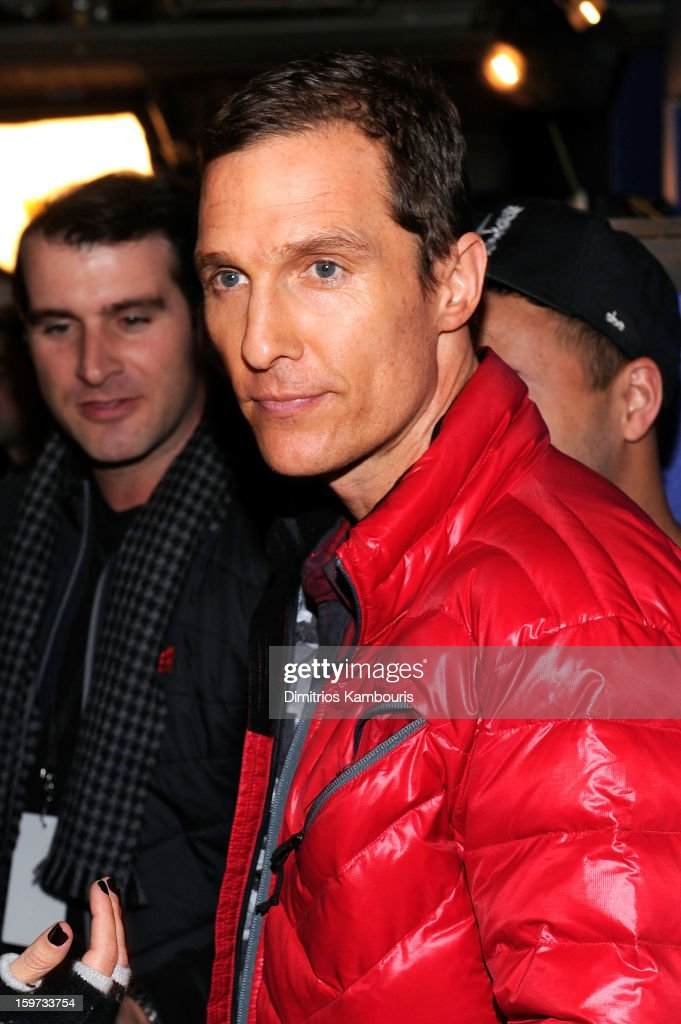 Actor <a gi-track='captionPersonalityLinkClicked' href=/galleries/search?phrase=Matthew+McConaughey&family=editorial&specificpeople=201663 ng-click='$event.stopPropagation()'>Matthew McConaughey</a> attends Day 2 of Village At The Lift 2013 on January 19, 2013 in Park City, Utah.