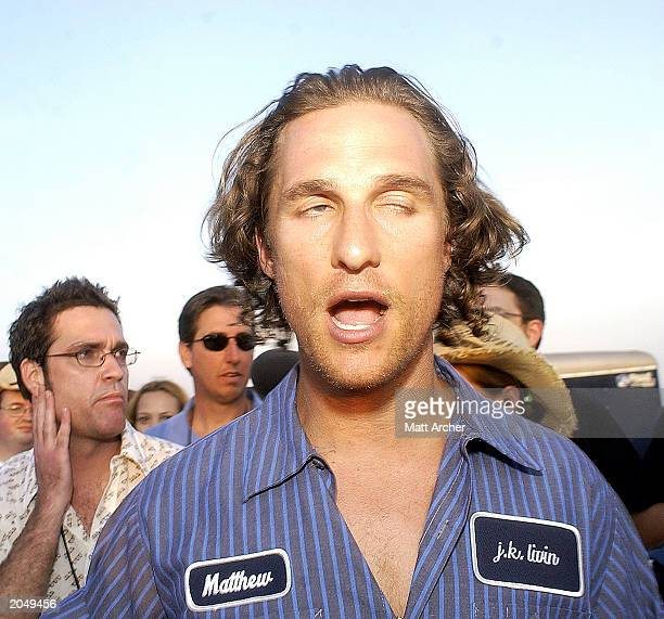 Actor Matthew McConaughey attends the 10th anniversary screening party of Dazed and Confused May 31 in Austin Texas The party was held at the same...
