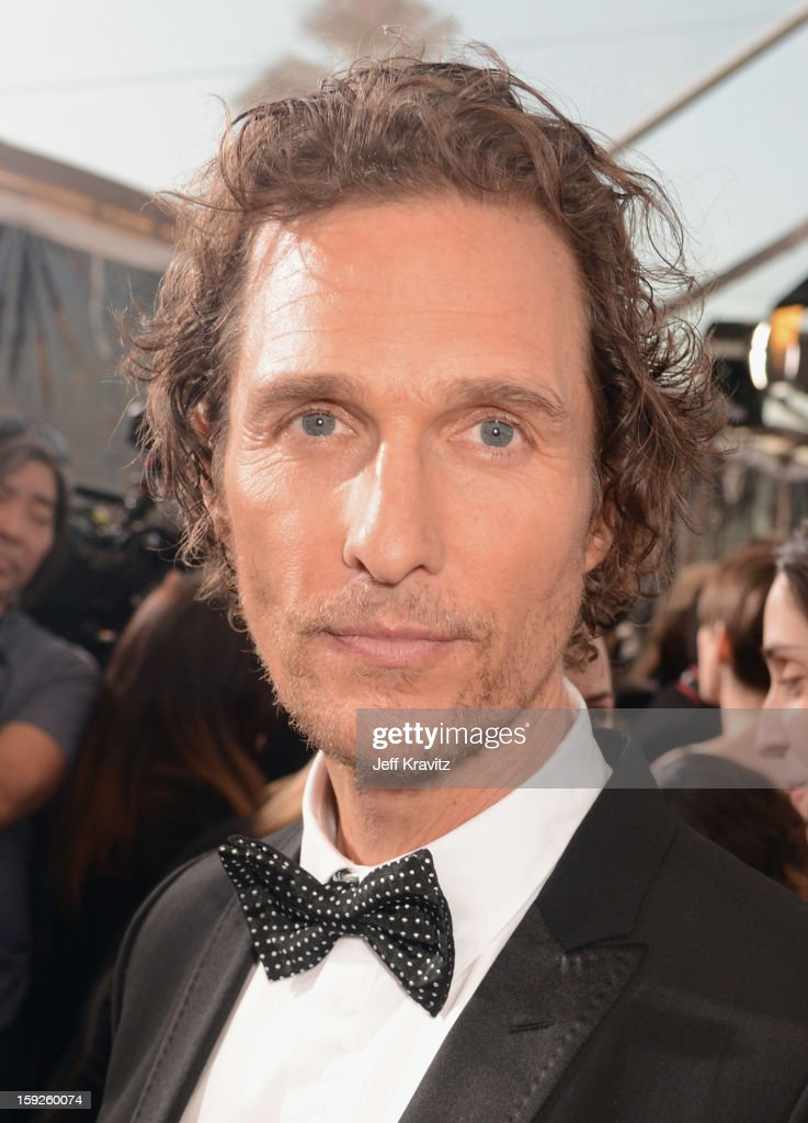 Actor <a gi-track='captionPersonalityLinkClicked' href=/galleries/search?phrase=Matthew+McConaughey&family=editorial&specificpeople=201663 ng-click='$event.stopPropagation()'>Matthew McConaughey</a> attends the 18th Annual Critics' Choice Movie Awards at Barker Hangar on January 10, 2013 in Santa Monica, California.