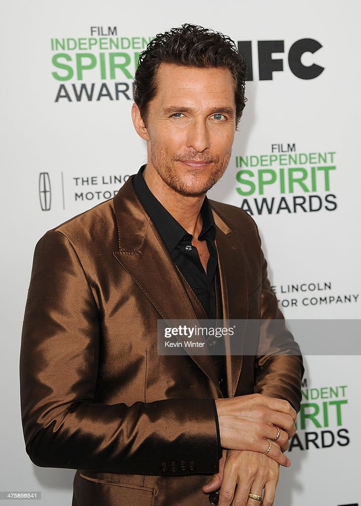 Actor Matthew McConaughey attends the 2014 Film Independent Spirit Awards at Santa Monica Beach on March 1, 2014 in Santa Monica, California.