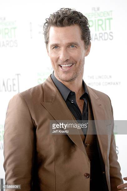 Actor Matthew McConaughey attends the 2014 Film Independent Spirit Awards on March 1 2014 in Santa Monica California