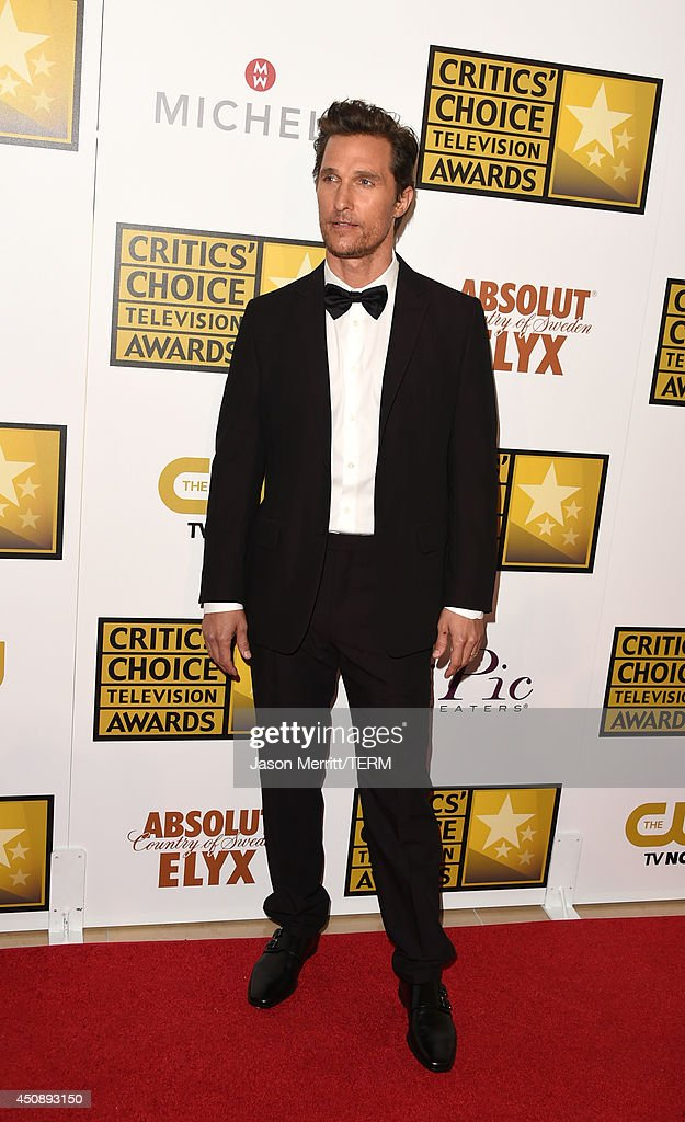 Actor <a gi-track='captionPersonalityLinkClicked' href=/galleries/search?phrase=Matthew+McConaughey&family=editorial&specificpeople=201663 ng-click='$event.stopPropagation()'>Matthew McConaughey</a> attends the 4th Annual Critics' Choice Television Awards at The Beverly Hilton Hotel on June 19, 2014 in Beverly Hills, California.