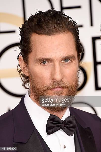 Actor Matthew McConaughey attends the 72nd Annual Golden Globe Awards at The Beverly Hilton Hotel on January 11 2015 in Beverly Hills California