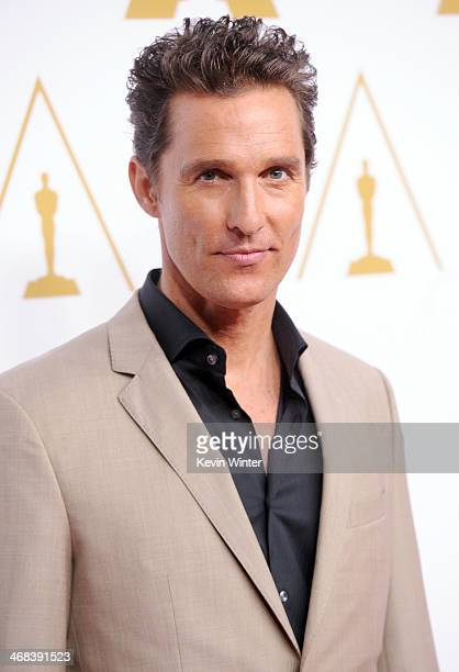 Actor Matthew McConaughey attends the 86th Academy Awards nominee luncheon at The Beverly Hilton Hotel on February 10 2014 in Beverly Hills California