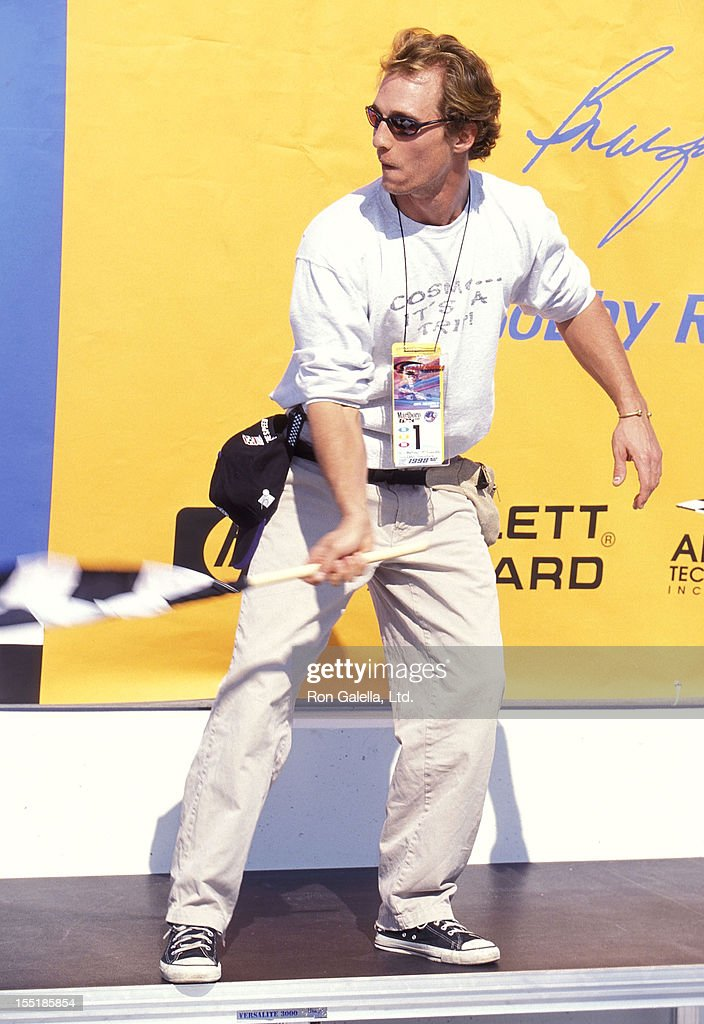 Actor Matthew McConaughey attends the CART FedEx Championship Series - Marlboro 500 Presented by Toyota on November 1, 1998 at the California Speedway in Fontana, California.