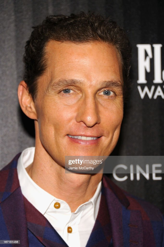 Actor <a gi-track='captionPersonalityLinkClicked' href=/galleries/search?phrase=Matthew+McConaughey&family=editorial&specificpeople=201663 ng-click='$event.stopPropagation()'>Matthew McConaughey</a> attends the Cinema Society with FIJI Water & Levi's screening of 'Mud' at The Museum of Modern Art on April 21, 2013 in New York City.