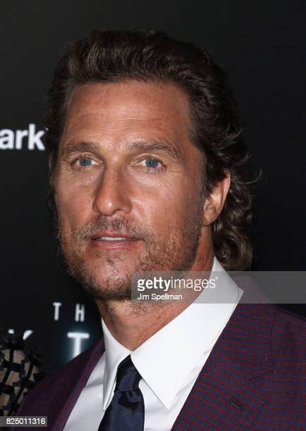 Actor Matthew McConaughey attends 'The Dark Tower' New York premiere at Museum of Modern Art on July 31 2017 in New York City