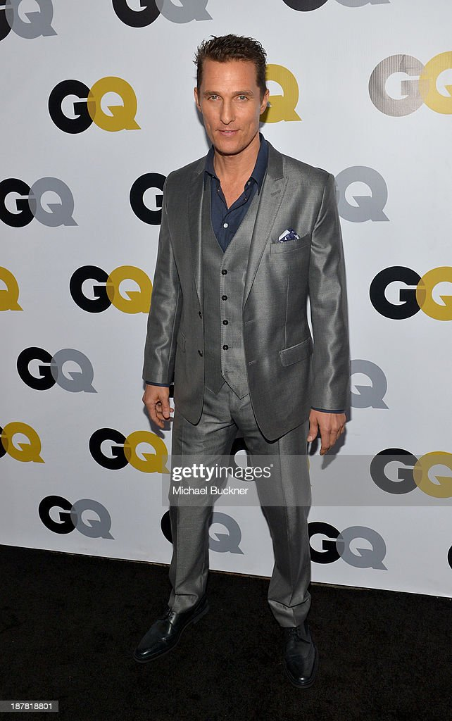 Actor <a gi-track='captionPersonalityLinkClicked' href=/galleries/search?phrase=Matthew+McConaughey&family=editorial&specificpeople=201663 ng-click='$event.stopPropagation()'>Matthew McConaughey</a> attends the GQ Men Of The Year Party at The Ebell Club of Los Angeles on November 12, 2013 in Los Angeles, California.