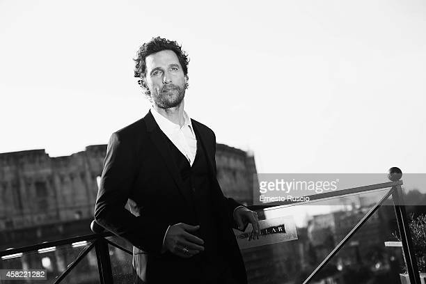 Actor Matthew McConaughey attends the 'Interstellar' photocall at Palazzo Manfredi on November 1 2014 in Rome Italy