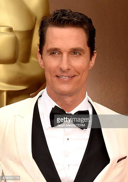 Actor Matthew McConaughey attends the Oscars held at Hollywood Highland Center on March 2 2014 in Hollywood California