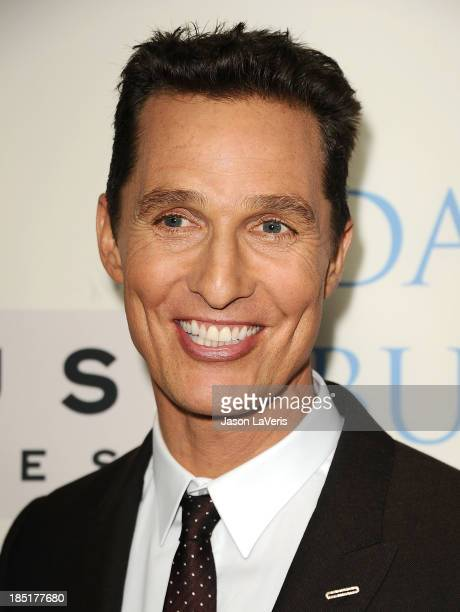 Actor Matthew McConaughey attends the premiere of 'Dallas Buyers Club' at the Academy of Motion Picture Arts and Sciences on October 17 2013 in...