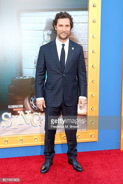 Actor Matthew McConaughey attends the premiere Of Universal Pictures' 'Sing' on December 3 2016 in Los Angeles California