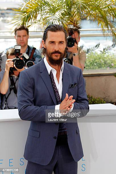 Actor Matthew McConaughey attends the 'The Sea of Trees' photocall during the 68th annual Cannes Film Festival on May 16 2015 in Cannes France