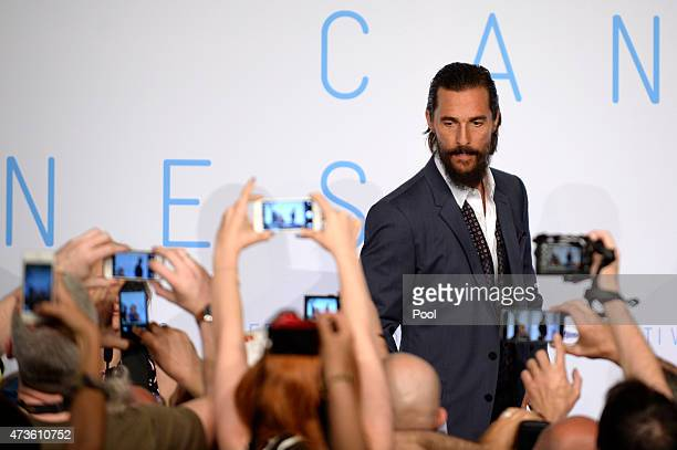 Actor Matthew McConaughey attends the 'The Sea Of Trees' press Conference during the 68th annual Cannes Film Festival on May 16 2015 in Cannes France