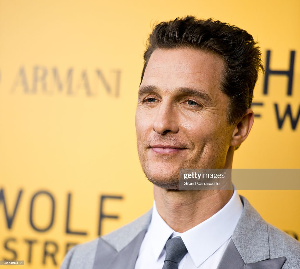 Actor <a gi-track='captionPersonalityLinkClicked' href=/galleries/search?phrase=Matthew+McConaughey&family=editorial&specificpeople=201663 ng-click='$event.stopPropagation()'>Matthew McConaughey</a> attends the 'The Wolf Of Wall Street' premiere at Ziegfeld Theater on December 17, 2013 in New York City.
