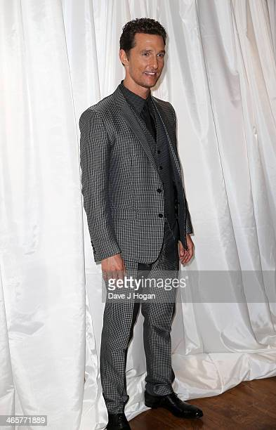 Actor Matthew McConaughey attends the UK Premiere of 'Dallas Buyers Club' at the Washington Mayfair Hotel on January 29 2014 in London England