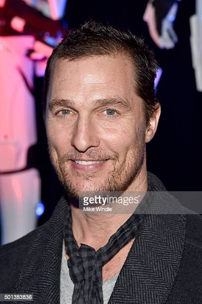 "Actor Matthew McConaughey attends the World Premiere of ""Star Wars The Force Awakens"" at the Dolby El Capitan and TCL Theatres on December 14 2015 in..."