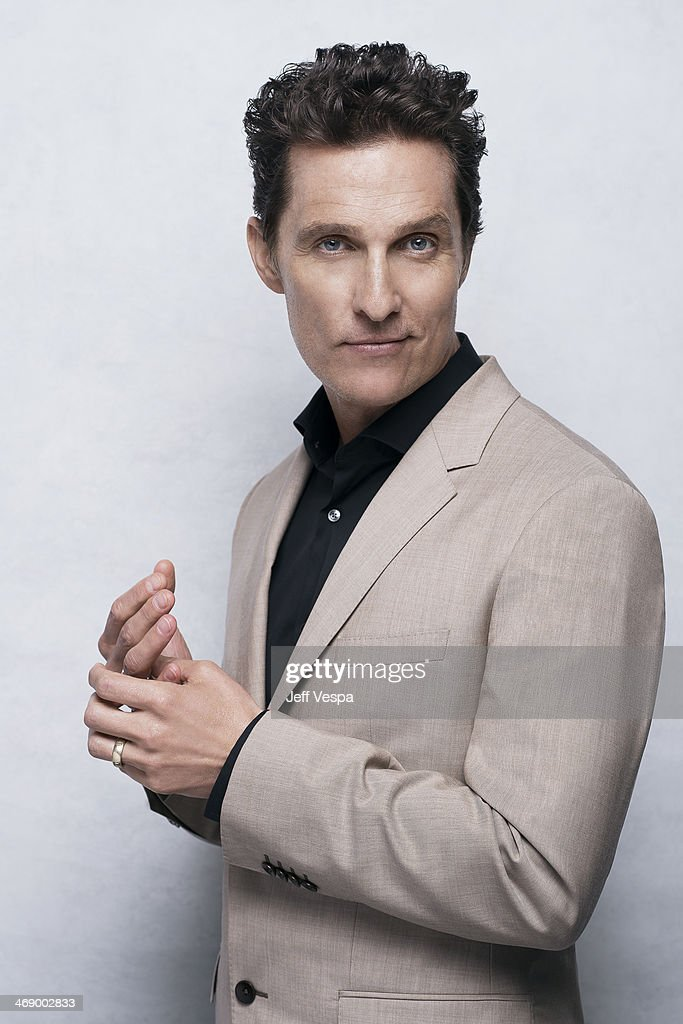 Actor Matthew Mcconaughey is photographed or Self Assignment on February 10, 2014 in Beverly Hills, California.