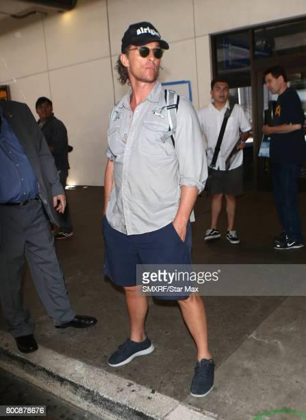 Actor Matthew McConaughey is seen on June 25 2017 in Los Angeles California