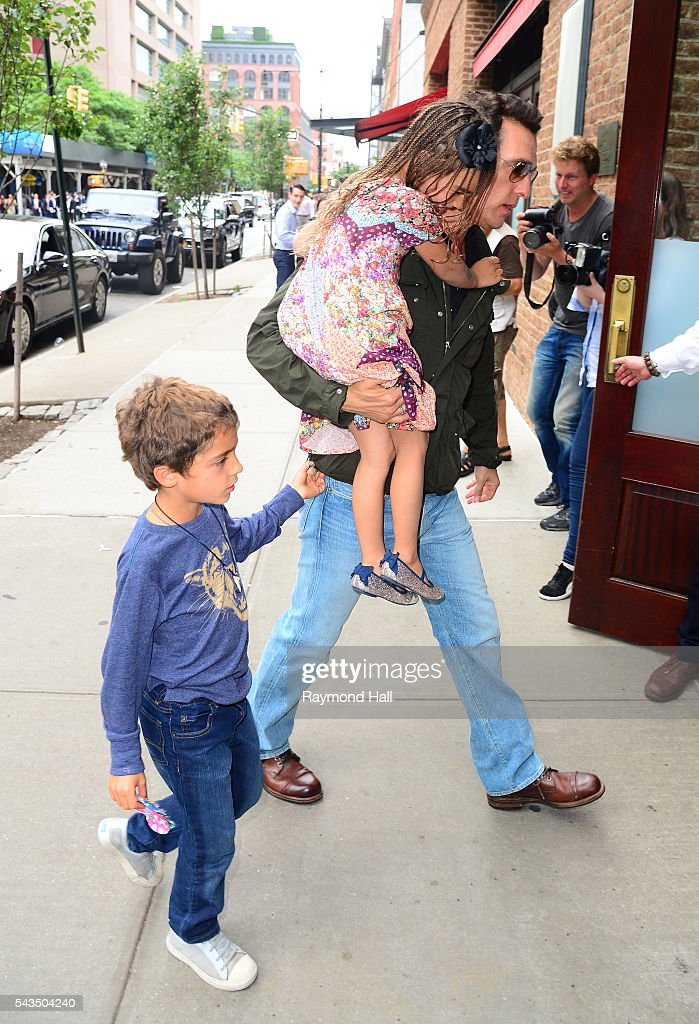 Actor <a gi-track='captionPersonalityLinkClicked' href=/galleries/search?phrase=Matthew+McConaughey&family=editorial&specificpeople=201663 ng-click='$event.stopPropagation()'>Matthew McConaughey</a> is seen walking in Soho on June 28, 2016 in New York City.