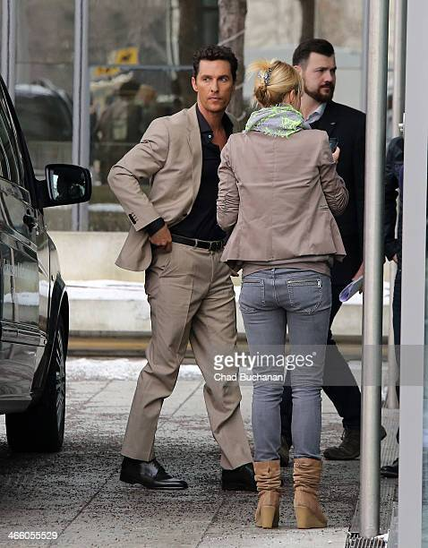 Actor Matthew McConaughey sighting at the Axel Springer building on January 31 2014 in Berlin Germany