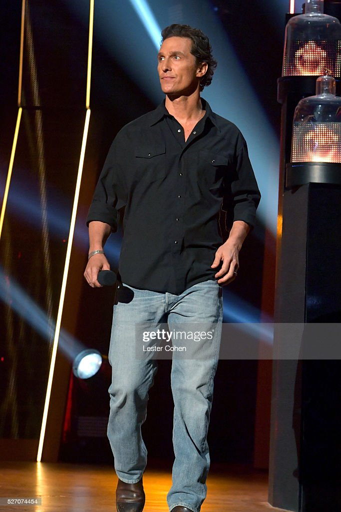 Actor <a gi-track='captionPersonalityLinkClicked' href=/galleries/search?phrase=Matthew+McConaughey&family=editorial&specificpeople=201663 ng-click='$event.stopPropagation()'>Matthew McConaughey</a> speaks onstage during the 2016 American Country Countdown Awards at The Forum on May 1, 2016 in Inglewood, California.