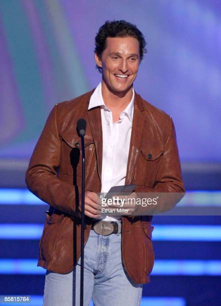 Actor Matthew McConaughey speaks onstage during the 44th annual Academy Of Country Music Awards held at the MGM Grand on April 5 2009 in Las Vegas...