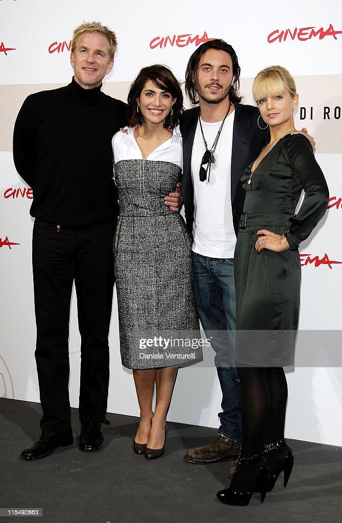 Actor Matthew Modine actress Caterina Murinoactor Jack Hustonactress Mena Suvari attend the 'The Garden Of Eden' photocall during the 3rd Rome...