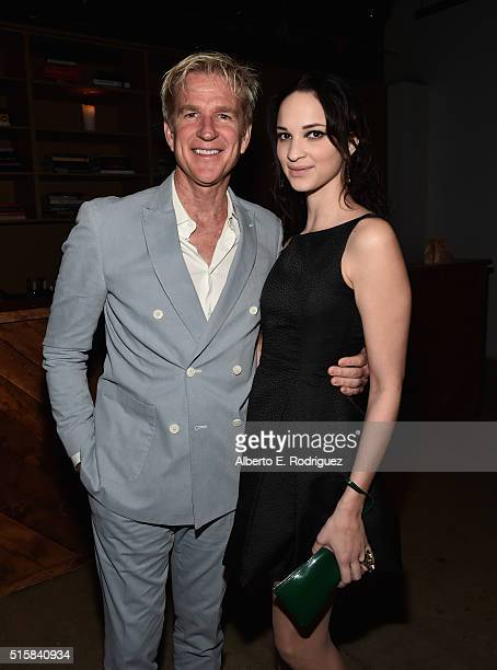 Actor Matthew Modine and daughter Ruby Modine attend the after party for the premiere of Saban Films' 'The Confirmation' at NeueHouse Hollywood on...
