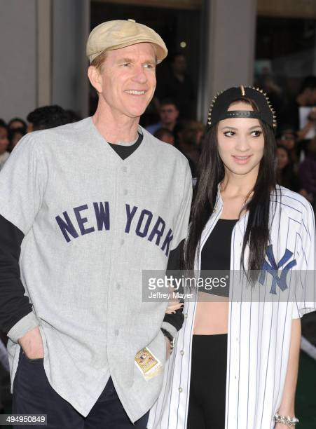 Actor Matthew Modine and daughter Ruby Wylder Rivera Modine arrive at the Los Angeles premiere of 'Million Dollar Arm' at the El Capitan Theatre on...