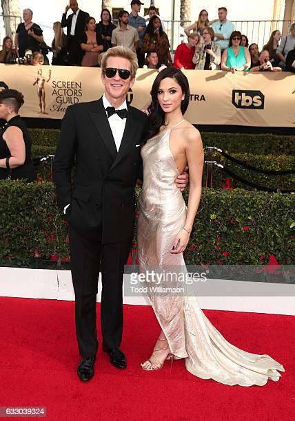 Actor Matthew Modine and Ruby Modine attend 23rd Annual Screen Actors Guild Awards at The Shrine Expo Hall on January 29 2017 in Los Angeles...
