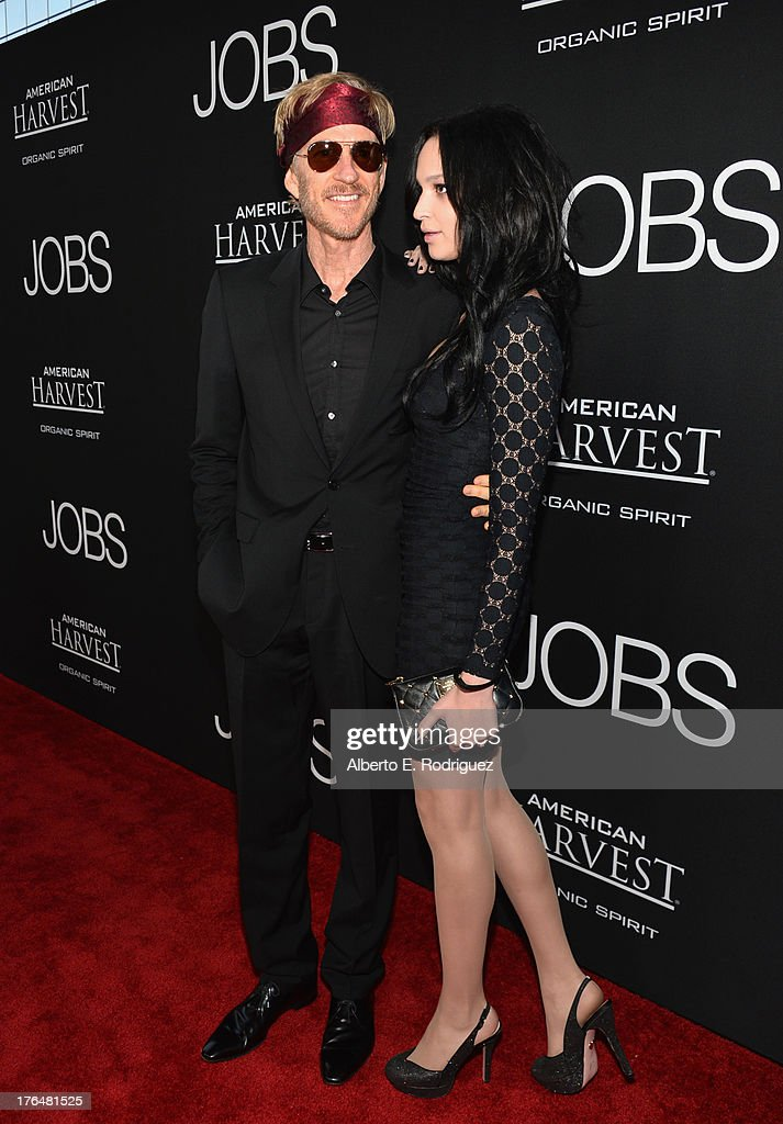 Actor <a gi-track='captionPersonalityLinkClicked' href=/galleries/search?phrase=Matthew+Modine&family=editorial&specificpeople=211363 ng-click='$event.stopPropagation()'>Matthew Modine</a> and Ruby Modine attend the screening of Open Road Films and Five Star Feature Films' 'Jobs' at Regal Cinemas L.A. Live on August 13, 2013 in Los Angeles, California.