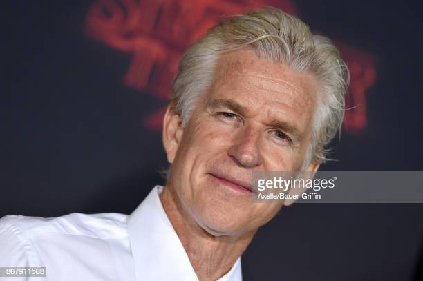 Actor Matthew Modine arrives at the premiere of Netflix's 'Stranger Things' Season 2 at Regency Bruin Theatre on October 26 2017 in Los Angeles...