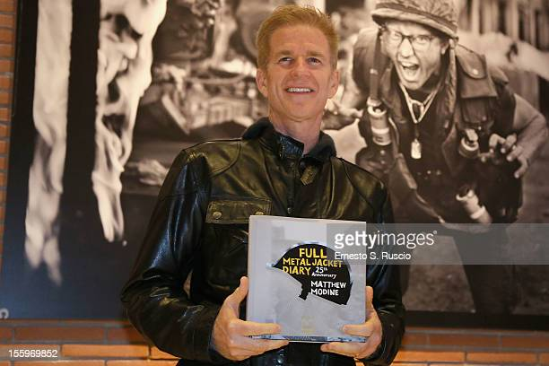 Actor Matthew Modine attends the Full Metal Jacket Diary Redux' Exhibition Opening during the 7th Rome Film Festival at the Auditorium Parco Della...