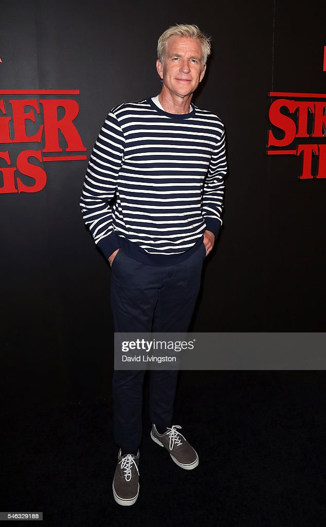 Actor Matthew Modine attends the premiere of Netflix's 'Stranger Things' at Mack Sennett Studios on July 11, 2016 in Los Angeles, California.