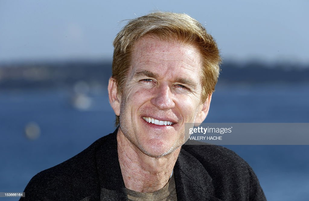 Actor Matthew Modine poses during a photocall for the TV show 'Cat 8' as part of the Mipcom international audiovisual trade show at the Palais des Festivals, in Cannes, southeastern France, on October 8, 2012.