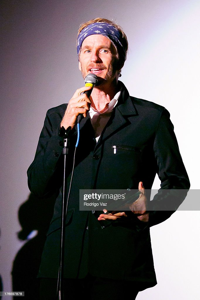 Actor <a gi-track='captionPersonalityLinkClicked' href=/galleries/search?phrase=Matthew+Modine&family=editorial&specificpeople=211363 ng-click='$event.stopPropagation()'>Matthew Modine</a> receives the 2013 Indie Maverick Award at the 9th Annual HollyShorts Film Festival Opening Night Inside, at TCL Chinese Theatre on August 15, 2013 in Hollywood, California.