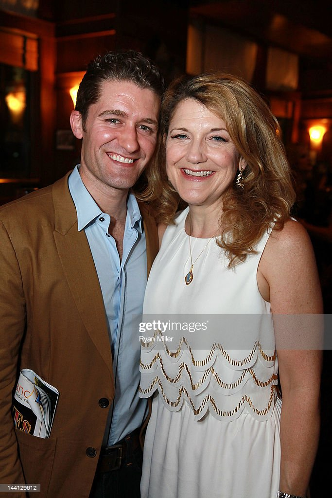 Actor <a gi-track='captionPersonalityLinkClicked' href=/galleries/search?phrase=Matthew+Morrison&family=editorial&specificpeople=171674 ng-click='$event.stopPropagation()'>Matthew Morrison</a> (L) and cast member Victoria Clark (R) pose during the party for the opening night performance of 'Follies' at Center Theatre Group/Ahmanson Theatre on May 10, 2012 in Los Angeles, California.