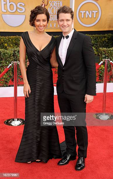 Actor Matthew Morrison and Renee Puente arrive at the 19th Annual Screen Actors Guild Awards at The Shrine Auditorium on January 27 2013 in Los...