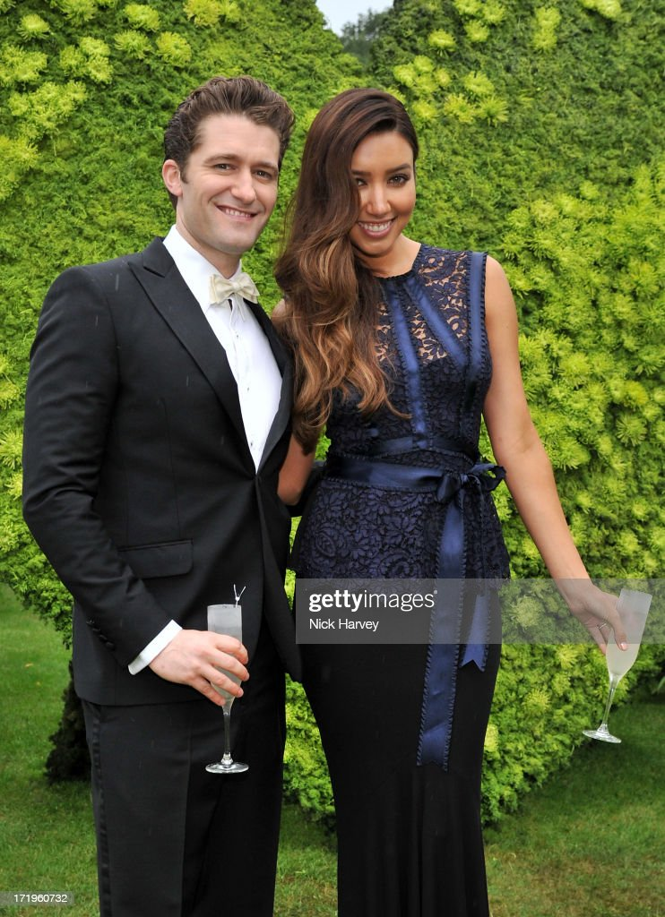 Actor Matthew Morrison and Renee Puente attend The 15th Annual White Tie and Tiara Ball to Benefit Elton John AIDS Foundation in Association with Chopard at Woodside on June 27, 2012 in Windsor, England. No sales to online/digital media worldwide until the 14th of July. No sales before July 14th, 2013 in UK, Spain, Switzerland, Mexico, Dubai, Russia, Serbia, Bulgaria, Turkey, Argentina, Chile, Peru, Ecuador, Colombia, Venezuela, Puerto Rico, Dominican Republic, Greece, Canada, Thailand, Indonesia, Morocco, Malaysia, India, Pakistan, Nigeria. All pictures are for editorial use only and mention of 'Chopard' and 'The Elton John Aids Foundation' are compulsory. No sales ever to Ok, Now, Closer, Reveal, Heat, Look or Grazia magazines in the United Kingdom. No sales ever to any jewellers or watchmakers other than Chopard.