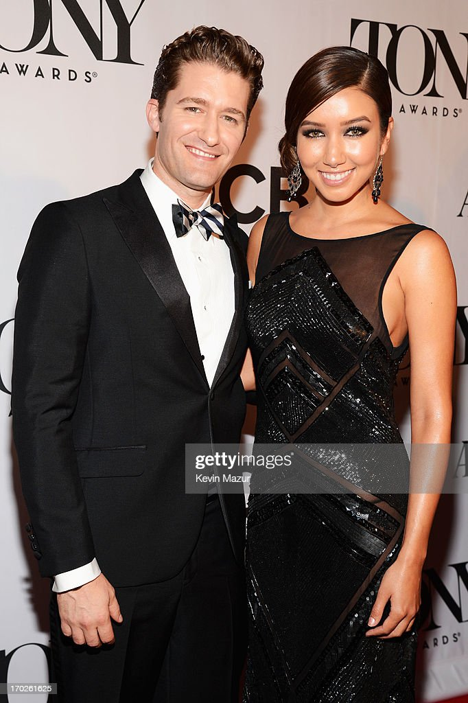 Actor Matthew Morrison and Renee Puente attend The 67th Annual Tony Awards at Radio City Music Hall on June 9 2013 in New York City