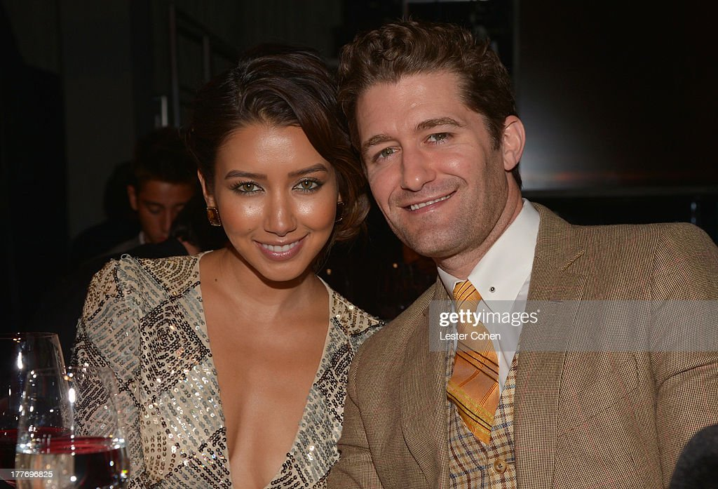 Actor Matthew Morrison and Renee Puente attend The Comedy Central Roast Of James Franco at Culver Studios on August 25 2013 in Culver City California...