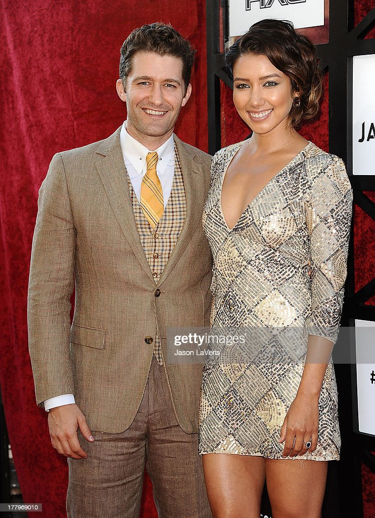 Actor Matthew Morrison and Renee Puente attend the Comedy Central Roast of James Franco at Culver Studios on August 25 2013 in Culver City California