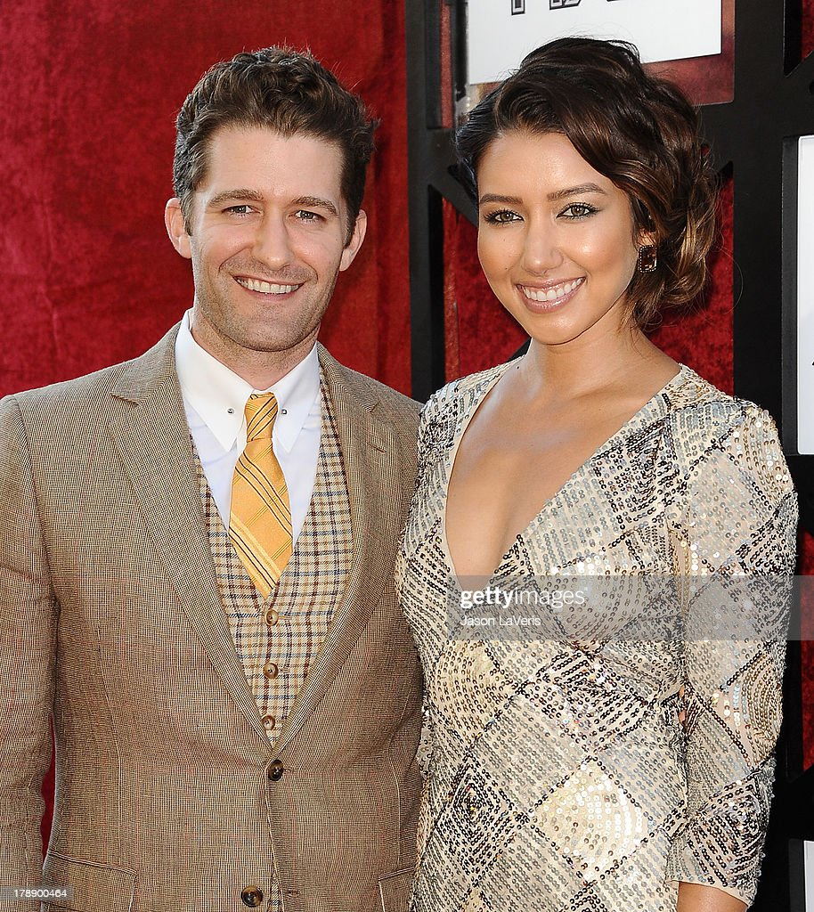 Actor Matthew Morrison and Renee Puente attend the Comedy Central Roast of James Franco at Culver Studios on August 25, 2013 in Culver City, California.
