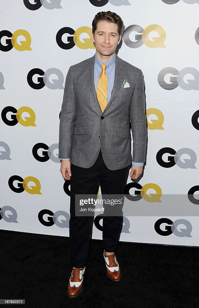 Actor Matthew Morrison arrives at GQ Celebrates The 2013 'Men Of The Year' at The Wilshire Ebell Theatre on November 12, 2013 in Los Angeles, California.