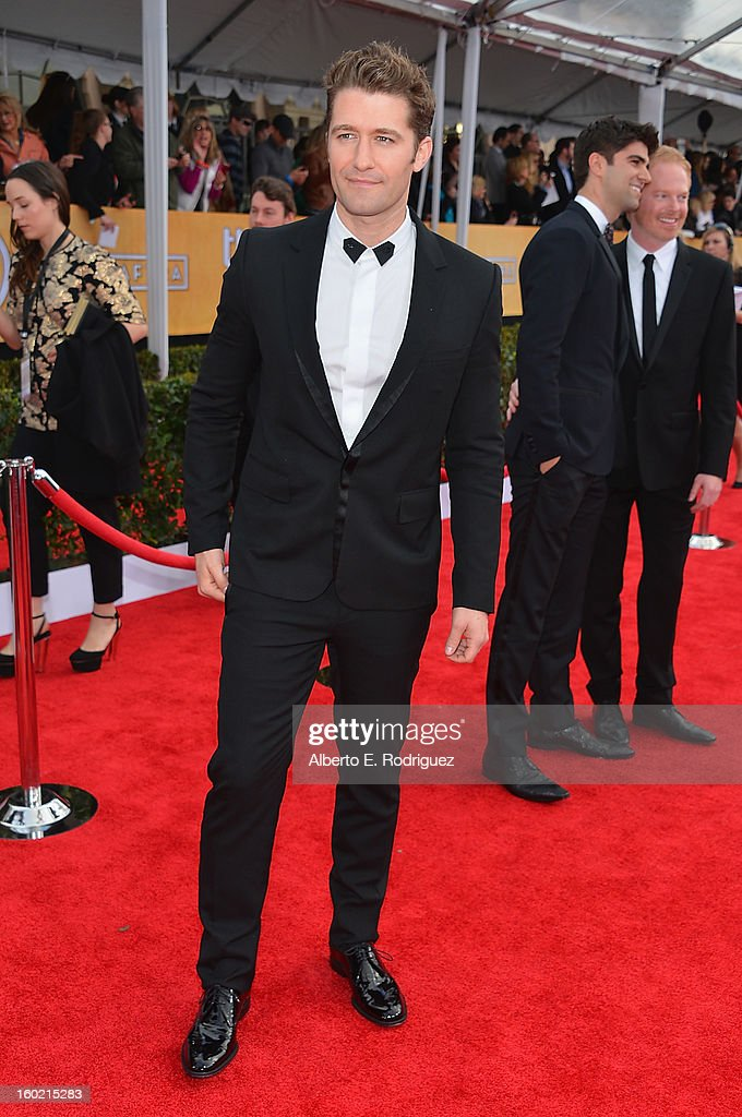 Actor Matthew Morrison arrives at the 19th Annual Screen Actors Guild Awards held at The Shrine Auditorium on January 27, 2013 in Los Angeles, California.